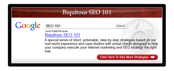 Biquitous SEO 101