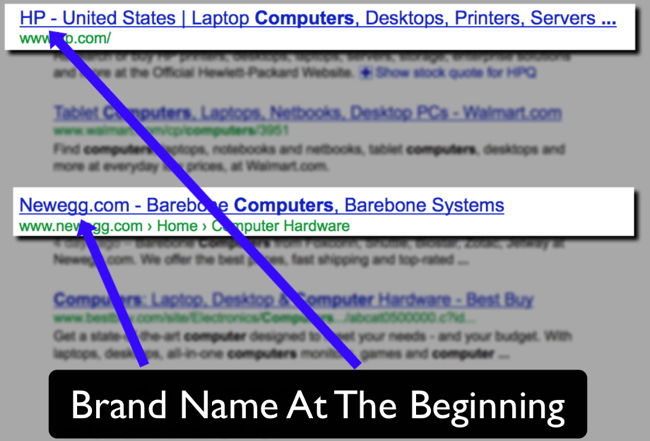 Example Title Tag Brand Name At The Beginning