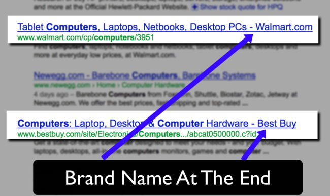 Example Title Tag Brand Name At The End