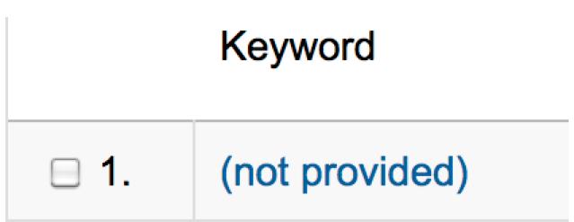 Google's #1 Keyword: (Not Provided)