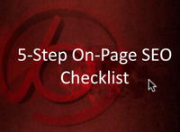 5-step on page SEO checklist thumbnail