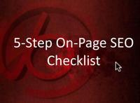 5-step on page SEO checklist thumbnail