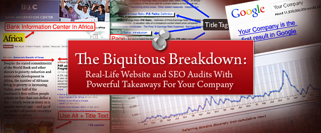 The Biquitous Breakdown Website and SEO Audit Header