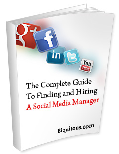 ebook Image for The Complete Guide to Finding and Hiring a Social Media Manager