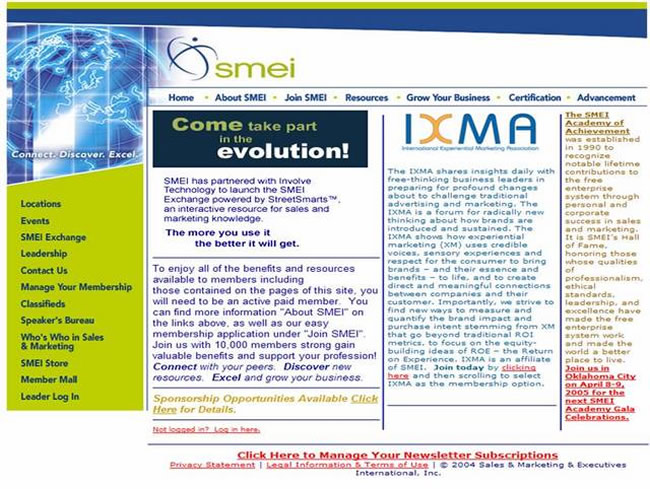 Picture of the smei website that makes products hard to find